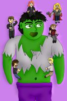Hulk Likes These Little Friends by Phoneix-Faerie