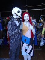 Jack Skellington and Sally - Mantova Comics 2014 by Groucho91