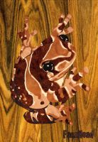 Milk Frog Marquetry by FauxHead