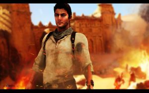 Nathan Drake | Uncharted by Rockeeterl