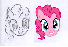 Pinkie Pie's Face by InMyDefence