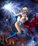 Power Girl and Lightning by Candra