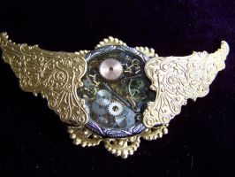 Time Flies - Steampunk Brooch by SteamPunkJennie