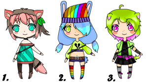 Adoptables Bubly Set//closed by Mellow-bunnii