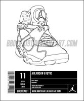 Air Jordan 8 Template alt by BBoyKai91