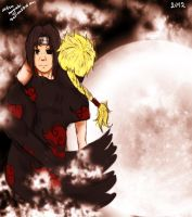 Naruto AT:Itachi and Ruriko by lazycreator