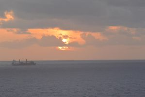 Caribbean Sunset, Chugging Along 2 by Miss-Tbones