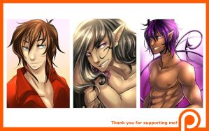 Patreon support / Busts for Seiyaku by Yokufo