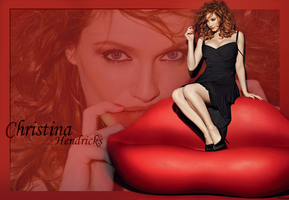 Wallpaper Christina Hendricks by Maitsuya
