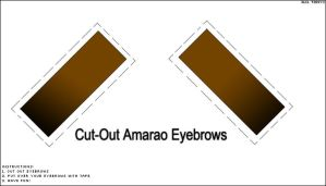 Cut-Out Amarao Eyebrows by TheAnthonyE