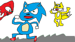 Sanic end Frends!!!! by nyan-ooze