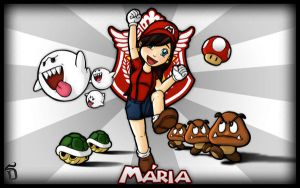 Mario Girl Wallpaper 1920x1200 by Dsebas