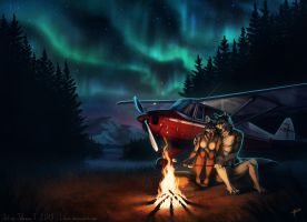 By the Campfire by Lhuin