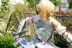 Saber Lily: Fate Unlimited Codes Work by SweetCandyCupkake