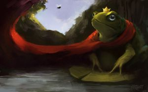 Frog king by KatRoart