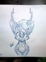 My Little Deer (Ink Lines - 1st Attempt) by Tamikimaru