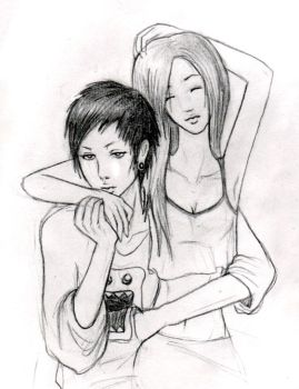 Asian couple kind of by Amy-Hotchic