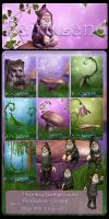 Fairyland backgrounds by moonchild-ljilja