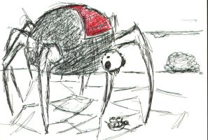 big spider gonna eat by deaf-leopard