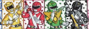 Mighty Morphin Power Rangers Puzzle ATC by ibroussardart