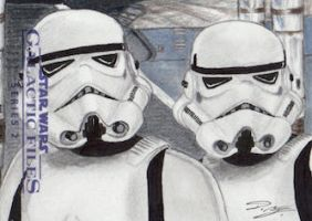 Star Wars GF S2 - Stormtroopers Sketch Art Card by DenaeFrazierStudios