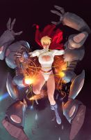 Power Girl 14 cover SAMI BASRI by DeevElliott