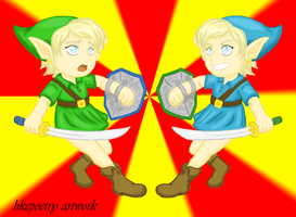 LoZ: Green Blue switcharoo by hkepoetry