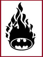 Batman Symbol and Flames by darkbear