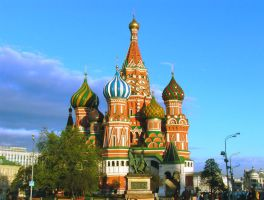 St. Basil's Cathedral. Moscow by Ecoprint