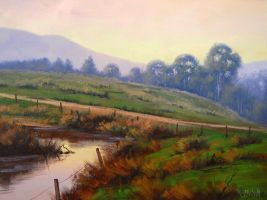 evening sky by Graham Gercken by artsaus