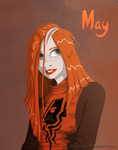 May portrait by DrawDrone