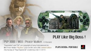 MGS Peace Walker - AD V2 - PSP by iFab