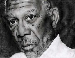 Morgan Freeman by dollparts21