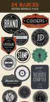 Retro Badges - Vintage Labels Bundle by gojol23