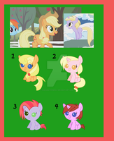 MlP: FiM Shipping Adoptables: Closed by asoukathewolf