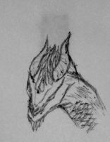 Dragon Sketch by IndustrialFreak94