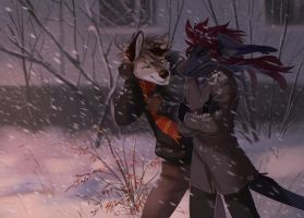 evening blizzard by Orphen-Sirius
