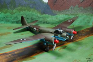 JU-88 Front View by 12jack12