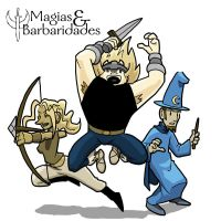 Magics and Barbarics Trio by fabiocralves