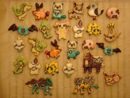 Pokemon Cookies by Ninisu