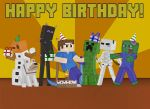 Minecraft Birthday Card Picture by BombCrop