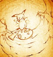An Egg for a Pikachu - Sketch by Chillovery