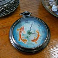 Koi fish painted Pocket Watch by Dustywallpaper