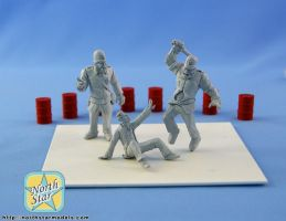 Orc cops in action - 54mm master models by Michael-XIII