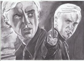 Tom Felton Draco Malfoy drawing by MelieseReidMusic