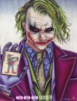 Heath Ledger as The Joker by tavington
