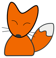 happy fox - svg by bairuidahu