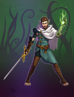 Varis - Half Elf Warlock by Oni-Tier
