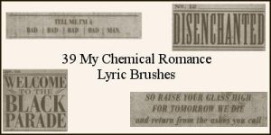 MCR Lyric Brushes by krinklecut