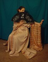 Copper Zari Kimono 9 by HiddenYume-stock